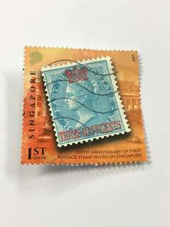 150th Anniversary of First Postage Stamp Issued in Singapore