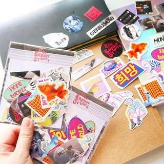 BTS Rapper Trinity Sticker set