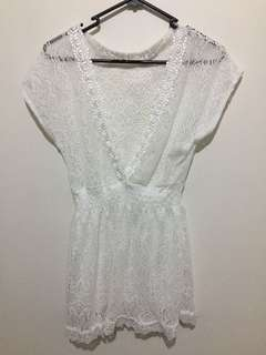 White Lace Dress: XS