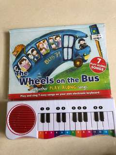 New the wheels on the bus play along songs with keyboard