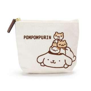 日本代購Sanrio 布甸狗布丁狗pom pom Purin 刺繡帆布卡片包散紙包銀包收納包