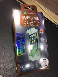 AT 雙效能全覆蓋鋼化玻璃貼(iPhone 7 Plus) 光面白色