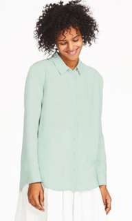 Looking for Uniqlo Rayon Long Sleeve Blouse Shirt