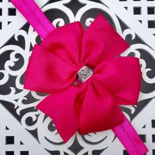 Fushia Pink Baby Headbands