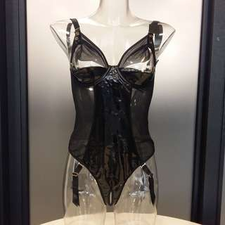 (SL51) 中碼 出口英國 黑色連身款 情趣套裝 Medium Black Sexy Lingerie Set