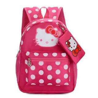 CHARACTER PRINTED BAGPACK with purse