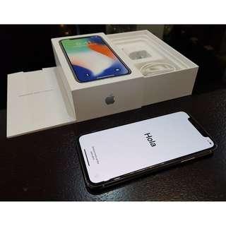 Iphone X 256gb Silver !!!! Apple warranty Unlocked free postage
