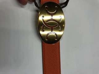 Hermes 特別扣真皮皮帶 可雙面使用 全新購自巴黎保正真品