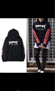 Justin Bieber Black/Red PURPOSE TOUR Hoodie Sweater