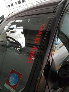 Daily driven car sticker decal