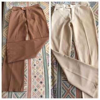 2 for 250 Stretchable Slacks / Pants