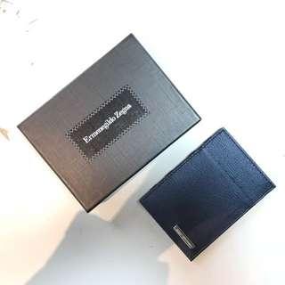 Ermenegildo Zegna深藍色cardholder