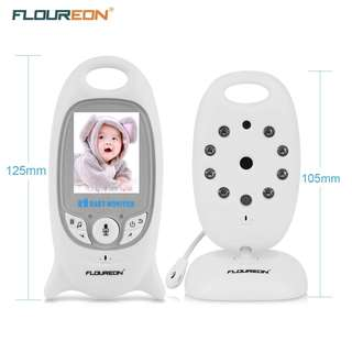 FLOUREON Wireless Baby Monitor IP Camera with Two Way talk 2.0 Inch LCD Digital Screen/Automatic Night Vision Security Camera/Temperature Monitoring/Lullabies Radio --  718