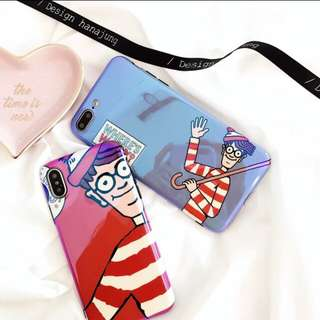 Iphone6s/7+/8 Wally 藍光手機軟殼