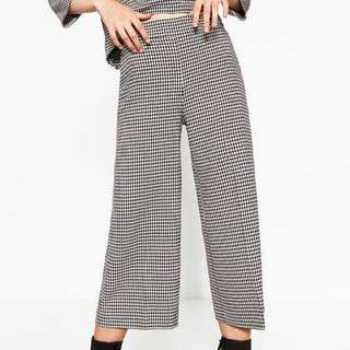 (NEW) ZARA Gingham Checkered Culottes Pants