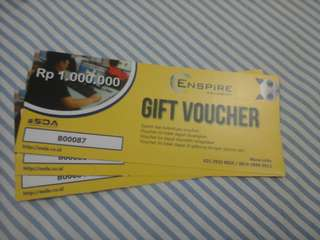 Gift voucher potongan Rp. 1.000.000,- Enspire Academy by ESDA