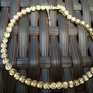 18k YG 1CARAT tennis bracelet