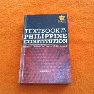 Textbook of Philippine Constitution