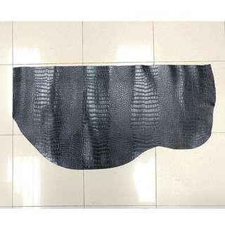 DIY 材料 黑色牛皮 鱷魚紋