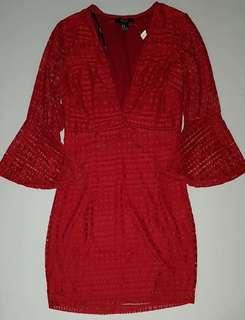 F21 Red Retro Dress