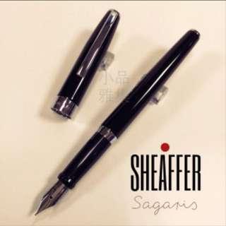 西華 SHEAFFER SAGARIS 戰斧 黑桿銀夾 鋼筆🖋️