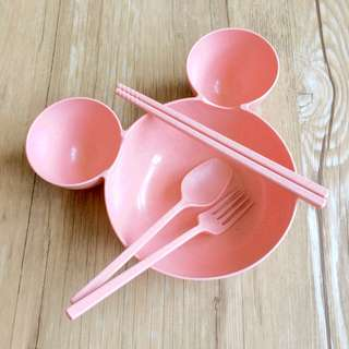 (BNIB) Mickey Mouse Bowl with Cutlery