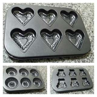 Baking Pans - Set of 3 - for Mini-Cakes