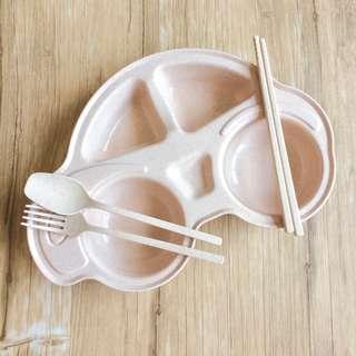 """(BNIB) Children """"Car"""" Plate with Cutlery"""