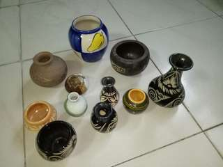 Antique jars and decorative objects