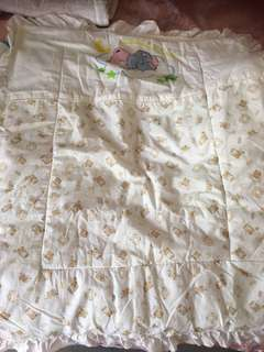 Baby blanket and comforter bundle: set/ bed sheet and bumper