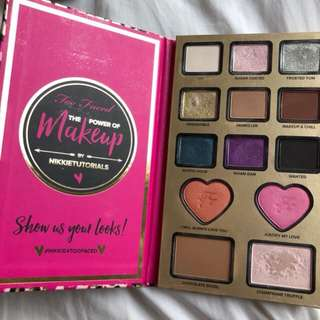 Nikki tutorials x too faced palette