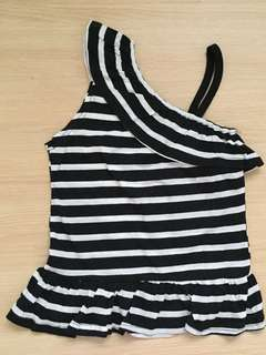 Black & White Stripes Top