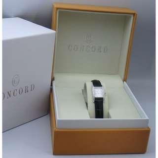 瑞士君皇錶 CONCORD 18K白金 鑽石貝穀粉紅面 女裝石英腕錶 w/Box