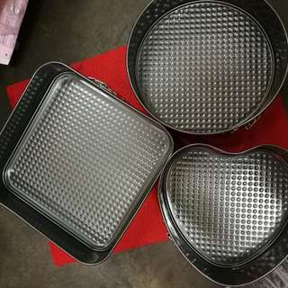 3 in 1 Round Heart Square Shape Cake Mould 22cm, 24cm, 26cm