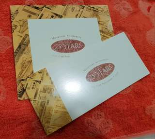 $25 Singapore 25th Anniversary of MAS