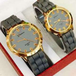 Couple watch with box (more colors available)