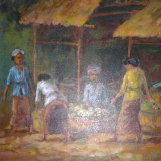 Lukisan kanvas uk 50*60