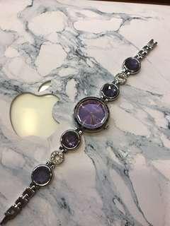 🚚 紫色 水晶 手錶
