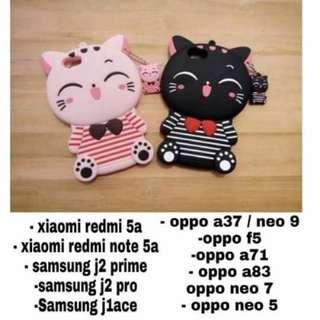 Grandbcs 3d case cat pink & cat black oppo a71