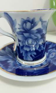 Classy English Cup With Matching Saucer