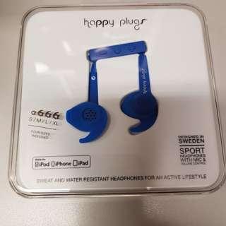 BNIB - Happy Plugs Sports Headphone with Mic and Volume Control