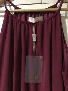 MAROON LONG DRESS