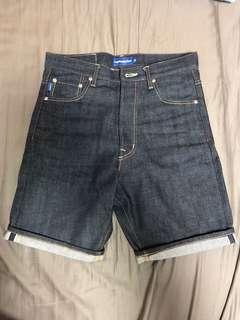 Lafayette 牛仔短褲 原色單寧 布邊