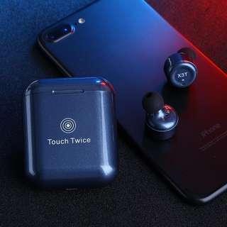 2018年話題作!X3T 輕觸式重低音藍芽耳機 X3T Wireless Bluetooth Stereo Touch Control Earbuds In-Ear Earphone Headphone