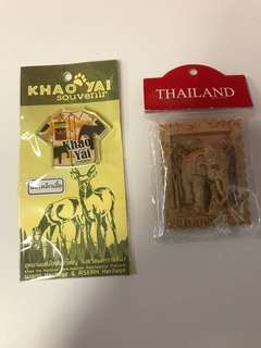 🚚 Souvenir Fridge / Whiteboard Magnets from Bangkok / Khao Yai Thailand