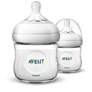 Philips Avent Natural 4oz 2 bottles
