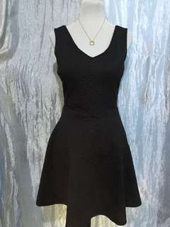 Black Embossed Designed Dress