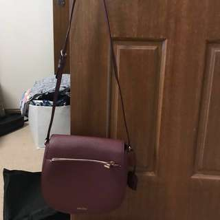 Burgundy oroton cross body bag