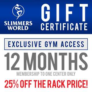 Exclusive Gym Access for 12 Months Gift Certificate