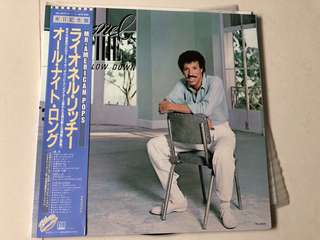 Lionel Richie Can't Slow Down Vinyl (Excellent condition) (Made in Japan)